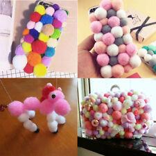 Wholesale Fluffy Kids Craft Felt PomPom Ball Mixed Polyester Pom Poms Dia. 10mm