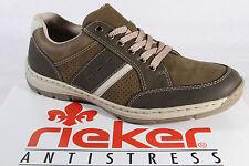 Rieker Zapatos de cordones de hombre Zapatilla de deporte bajas marrón NUEVO