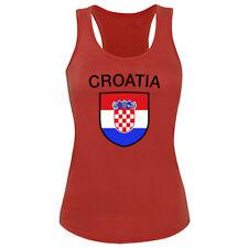 Tank Top Shirts Xs S M L Xl mit Print Kroatien Croatia 73351 rot