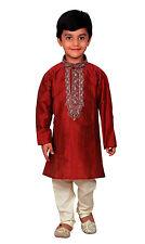 Chicos indio paquistaní sherwani Granate Kurta churidar kameez de Eid Londres 856