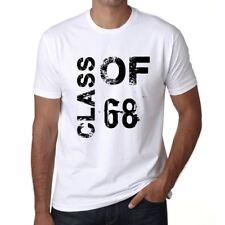 Class of 68 Homme T-shirt Blanc Cadeau D'anniversaire