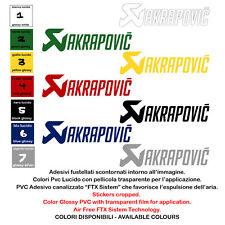 Adesivi prespaziati akrapovic sticker sponsor motorcycle pvc 1 pezzo cm. 25