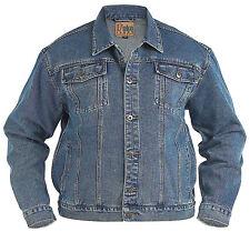 New hommes qualité Kingsize Big Camionneur Veste en jean denim bleu délavé