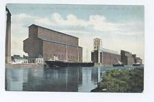 Old Postcard  Canada Fort William Ontario Canadian Pacific Railway Elevators