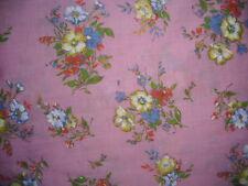 coupon tissu  fleurs  100 X 170 cm