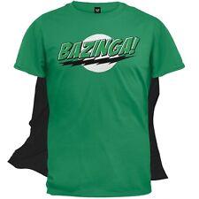 Big Bang Theory - Bazinga Mens T-Shirt With Cape Green