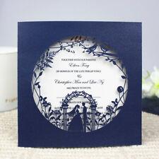 10/50PCS HOLLOW  FLORAL LASER CUT WEDDING INVITATION CARD COVER / ENVELOPE