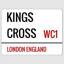 Kings Cross London Street Sign Plaque Aluminium
