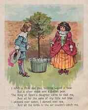 Nut Tree-Golden Pear-Silver Apple-Spain-Mother Goose-1898 ANTIQUE VINTAGE PRINT