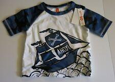 Joe Fresh Brand Infant Toddler Boys Rash Guard UV Swim Shirt Pirate Ship Ahoy