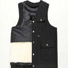 Winte Men's Thick Vest Fleece Lined Waistcoat Sleeveless Jacket Combat Coat New