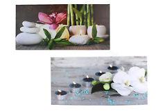 Leinwand Bild Orchidee kerzen Wandbild Leuchtbild 3D mit 2-3 LEDs Beleuchtetes
