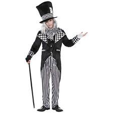 Totally Mad Hatter Wonderland Black White Mens Adults Fancy dress Costume