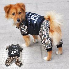 Warme Wintermantel Hundemantel Baumwolle Hundejacke Outdoor FBI Pet Tarnkleidung