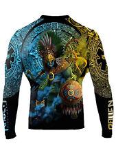 Raven Fightwear Men's Huitzilopochtli Aztec Rash Guard MMA BJJ Black