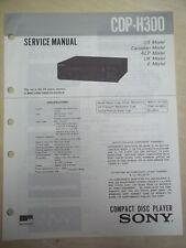 Sony Service/Repair Manual~CDP-H300 CD Player