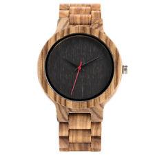 Fashion Bamboo Nature Wood Casual Men Quartz Wrist Watch Bracelet Fold Clasp