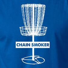 CHAIN SMOKER funny disc golf sport T-Shirt golfing frisbee basket