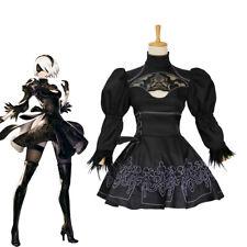 NieR: Automata 2B Black Dress Cosplay Costume Set With Glove Eyepatch Socks