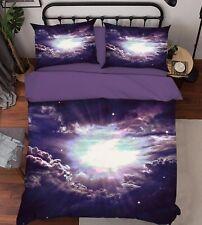3D Black Hole Universe 41 Bed Pillowcases Quilt Duvet Cover Set Single Queen CA