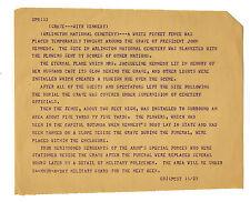 JFK John F. Kennedy Assassination Teletype