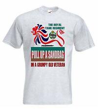 La Royal Tank Regiment T-shirt RTR T-Shirt o Felpa scontroso VECCHIO Veterano