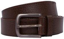 Mens Plain Brown Classic Jeans Trousers Office Wear Pin Buckle Belts S-3XL