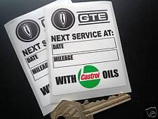 RELIANT SCIMITAR GTE CASTROL Classic service stickers