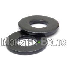 SAE Flat Washers Steel w/ Black Oxide - #4 #6 #8 #10 1/4