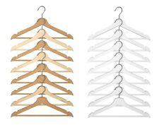 STAMPELLE in legno guardaroba in legno lucido Hanger APPENDIABITI ABBIGLIAMENTO VESTITI barra pantalone