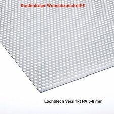 Stahl Verznikt Lochblech 2 mm RV 5-8 mm auf Wunschmaß Blech KOSTENLOSER VERSAND