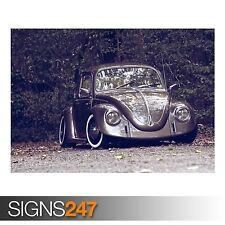 VOLKSWAGEN BEETLE RETRO (AA909) CLASSIC CAR POSTER - Poster Print Art A1 A2 A3