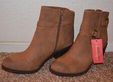 """NEW ~ American Ragcie Women Brown Suede Boots / Size 6.5, 7, 7.5 / Heel 2-1/2"""""""