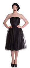 Hell Bunny Tamara Tulle bandeau Petticoat vintage Princess vestido BLK rockabilly