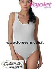 Body donna Vajolet a spalla larga in morbido cotone con scollo ampio art 5395