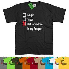 Da Uomo Singolo, tolto per un giro nel mio PEUGEOT T Shirt francese 205 208 308 508