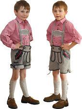 kurze Trachten LederhoseTräger Kinder grau von St. Peter Trachten