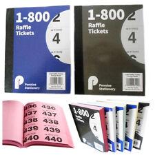 Biglietti DELLA LOTTERIA LIBRO 5 Colori Unico Numeri di serie con Duplicati TOMBOLA Disegnare