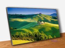 Quadro Pannello in Legno Stampa Paesaggio Toscano Campagna Umbra con Vernice