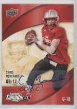 2013 Upper Deck USA Football Canada Rivals Autographs #C-1 Chris Merchant Auto