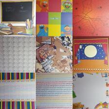 "12""X12"" Scrapbook Paper Children Girl Boy Humpty Stage Pencil School Spider"