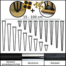 HaarnadelbeineHairpin Legs Tischbeine Hairpinlegs / in Chrome, Schwarz, Rohstal