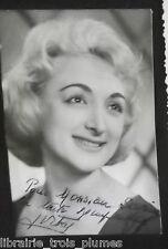 ✒ Photo dédicacée Jacqueline VITRY artiste comédienne chanteuse 1965?