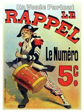 Le Rapel le numero Vintage POSTER.Graphic Design.Wall Art Decoration.3260