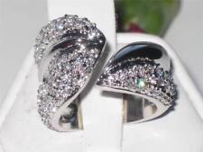 P9W076PB PAVE SET OPEN DESIGNER SIMULATED DIAMOND RING AAA GRADE QUALITY WOMENS