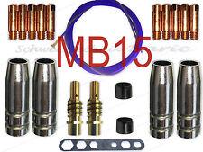 MB15 TBI150 SH15 SB15 MIG/MAG Gasdüse Düsenstock Stromdüse Drahtseele