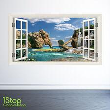 PARADISE BEACH Fenêtre Autocollant Mural Couleur complète - salon cuisine Art
