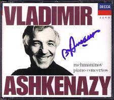 Vladimir Ashkenazy firmato Rachmaninov piano concerto 1 2 3 4 Andre Previn 2cd