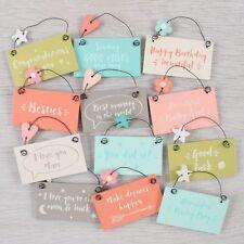 Cute Hanging Mini Keepsake Sign Phrase Gift Tag Love Birthday Bestie Mum friends