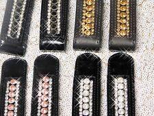 Chlips Stiefel Chlip Strass Deko für Reitstiefel Chaps Glitzer Clip + Lack Leder